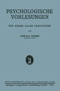 Cover Psychologische Vorlesungen