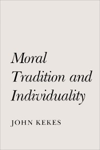 Cover Moral Tradition and Individuality