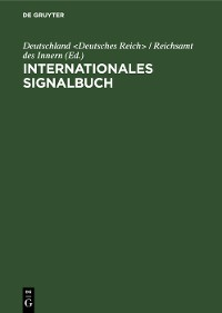 Cover Internationales Signalbuch