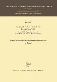 Cover Untersuchung von zeitlichen Reaktionsablaufen in Gasen