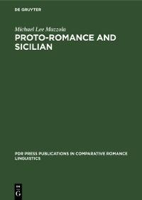 Cover Proto-Romance and Sicilian