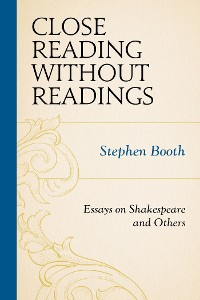 Cover Close Reading without Readings