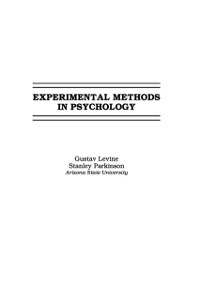 Cover Experimental Methods in Psychology