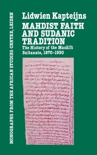 Cover Mahdish Faith & Sudanic Traditio
