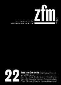 Cover Zeitschrift für Medienwissenschaft 22