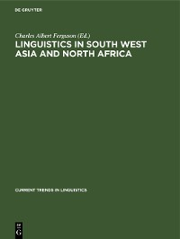 Cover Linguistics in South West Asia and North Africa