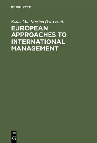 Cover European Approaches to International Management