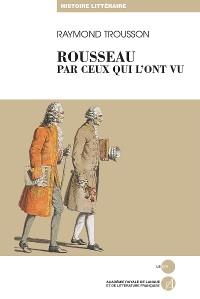 Cover Rousseau par ceux qui l'ont vu