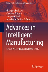 Cover Advances in Intelligent Manufacturing
