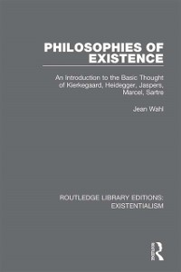Cover Philosophies of Existence