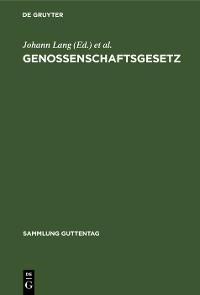 Cover Genossenschaftsgesetz