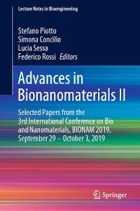 Cover Advances in Bionanomaterials II