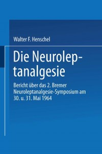 Cover Die Neuroleptanalgesie