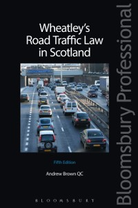 Cover Wheatley's Road Traffic Law in Scotland