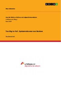 Cover Too Big to Fail. Systemrelevanz von Banken