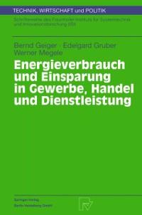 Cover Energieverbrauch und Einsparung in Gewerbe, Handel und Dienstleistung