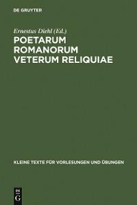 Cover Poetarum Romanorum Veterum Reliquiae