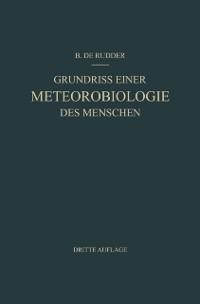 Cover Grundriss Einer Meteorobiologie des Menschen