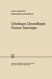 Cover Grundungen, Umwandlungen, Fusionen, Sanierungen