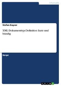 Cover XML Dokumenttyp-Definition kurz und bündig