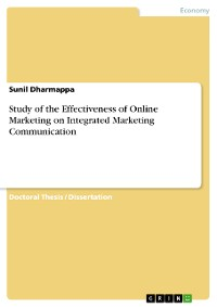 Cover Study of the Effectiveness of Online Marketing on Integrated Marketing Communication