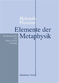 Cover Helmuth Plessner, Elemente der Metaphysik