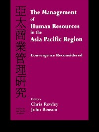 Cover Management of Human Resources in the Asia Pacific Region