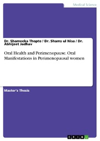Cover Oral Health and Perimenopause. Oral Manifestations in Perimenopausal women