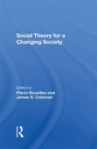 Cover Social Theory For A Changing Society