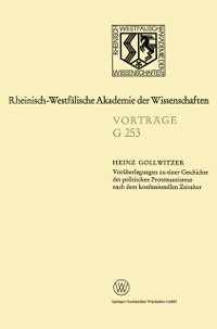 Cover Voraberlegungen zu einer Geschichte des politischen Protestantismus nach dem konfessionellen Zeitalter