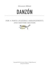 Cover Danzón for 4 parts (flexible arrangements) and Rhythm Section