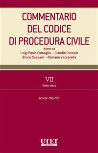 Cover Commentario del Codice di procedura civile - vol. 7 - tomo III