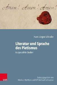 Cover Literatur und Sprache des Pietismus