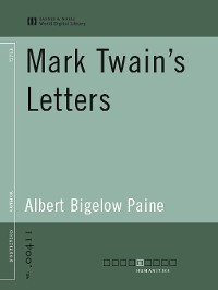 Cover Mark Twain's Letters (World Digital Library Edition)