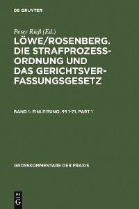 Cover Einleitung; §§ 1-71