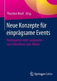Cover Neue Konzepte für einprägsame Events