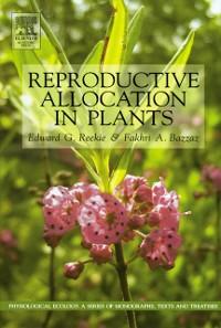 Cover Reproductive Allocation in Plants