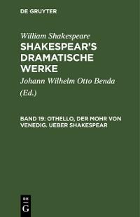 Cover Othello, der Mohr von Venedig. Ueber Shakespear