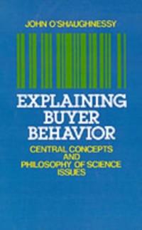 Cover Explaining Buyer Behavior
