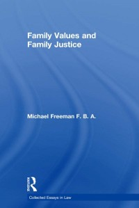 Cover Family Values and Family Justice