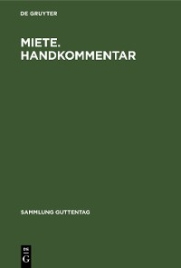 Cover Miete. Handkommentar