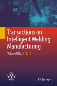 Cover Transactions on Intelligent Welding Manufacturing