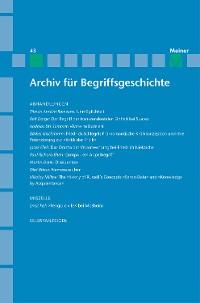 Cover Archiv für Begriffsgeschichte / Archiv für Begriffsgeschichte. Band 43