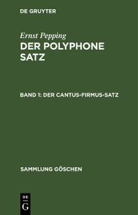Cover Der cantus-firmus-Satz