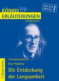 Cover Die Entdeckung der Langsamkeit von Sten Nadolny. Textanalyse und Interpretation.