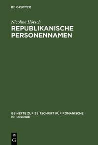 Cover Republikanische Personennamen