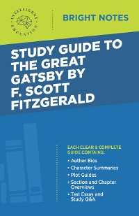 Cover Study Guide to The Great Gatsby by F. Scott Fitzgerald