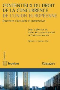 Cover Contentieux du droit de la concurrence de l'Union européenne