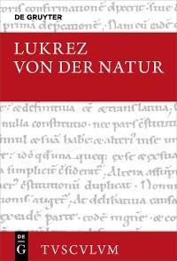 Cover Von der Natur / De rerum natura