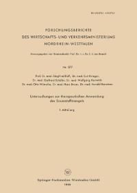 Cover Untersuchungen zur therapeutischen Anwendung des Sauerstoffmangels